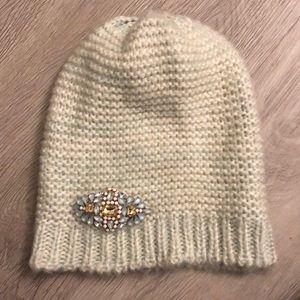 Blue/green knit beanie